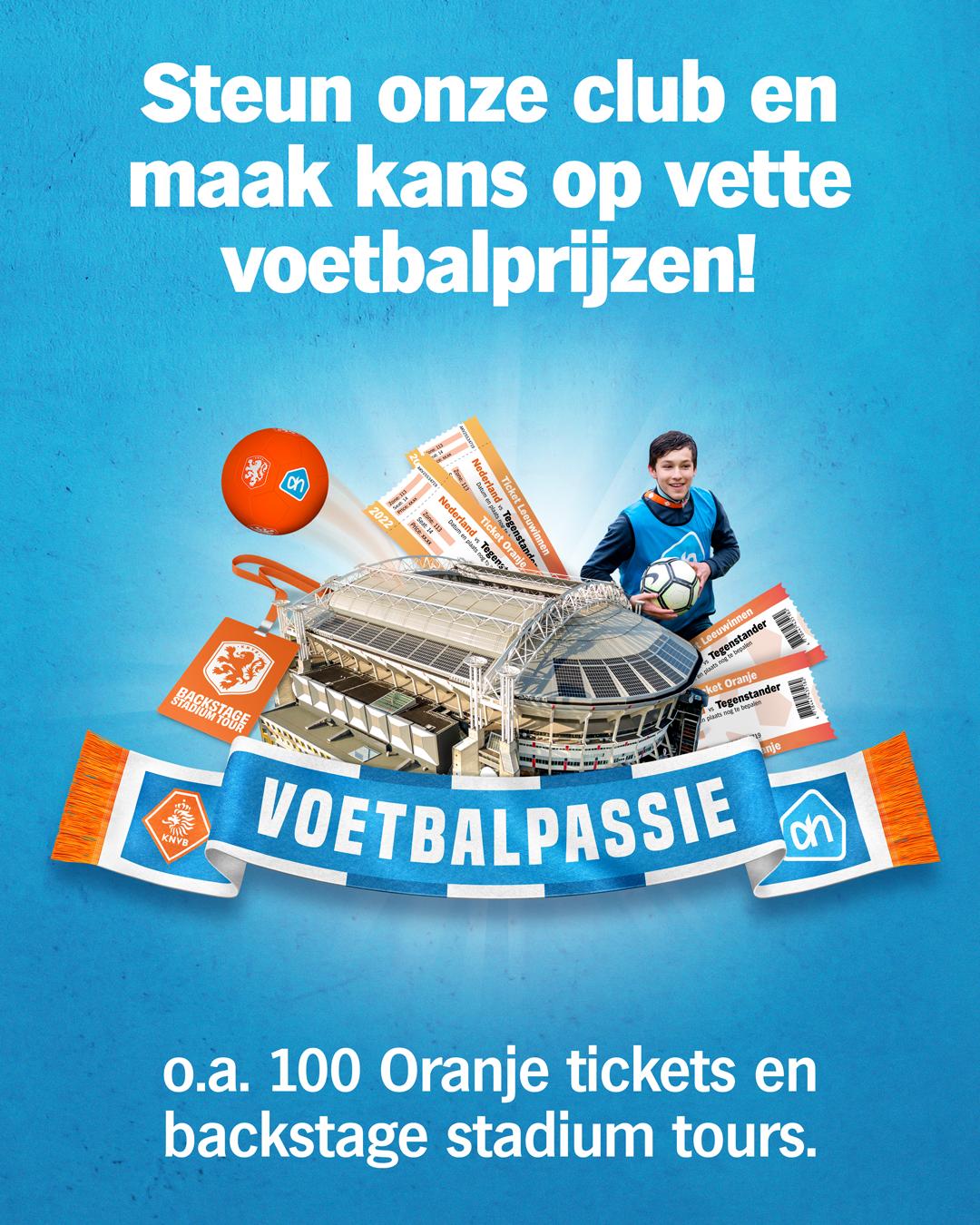 Voetbalpassie: boodschappen doen bij Albert Heijn levert de club geld op